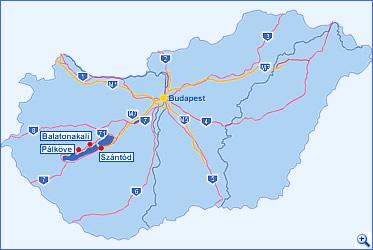 magyarország térkép balaton Balaton térkép, balatoni térképek   Balatonakali, Pálköve Szántód magyarország térkép balaton
